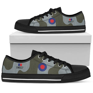 RAF Avro Vulcan Inspired Men's Low Top Canvas Shoes - I Love a Hangar