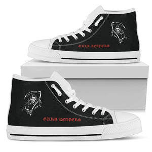 VF-101 Grim Reapers Inspired Men's High Top Canvas Shoes - I Love a Hangar