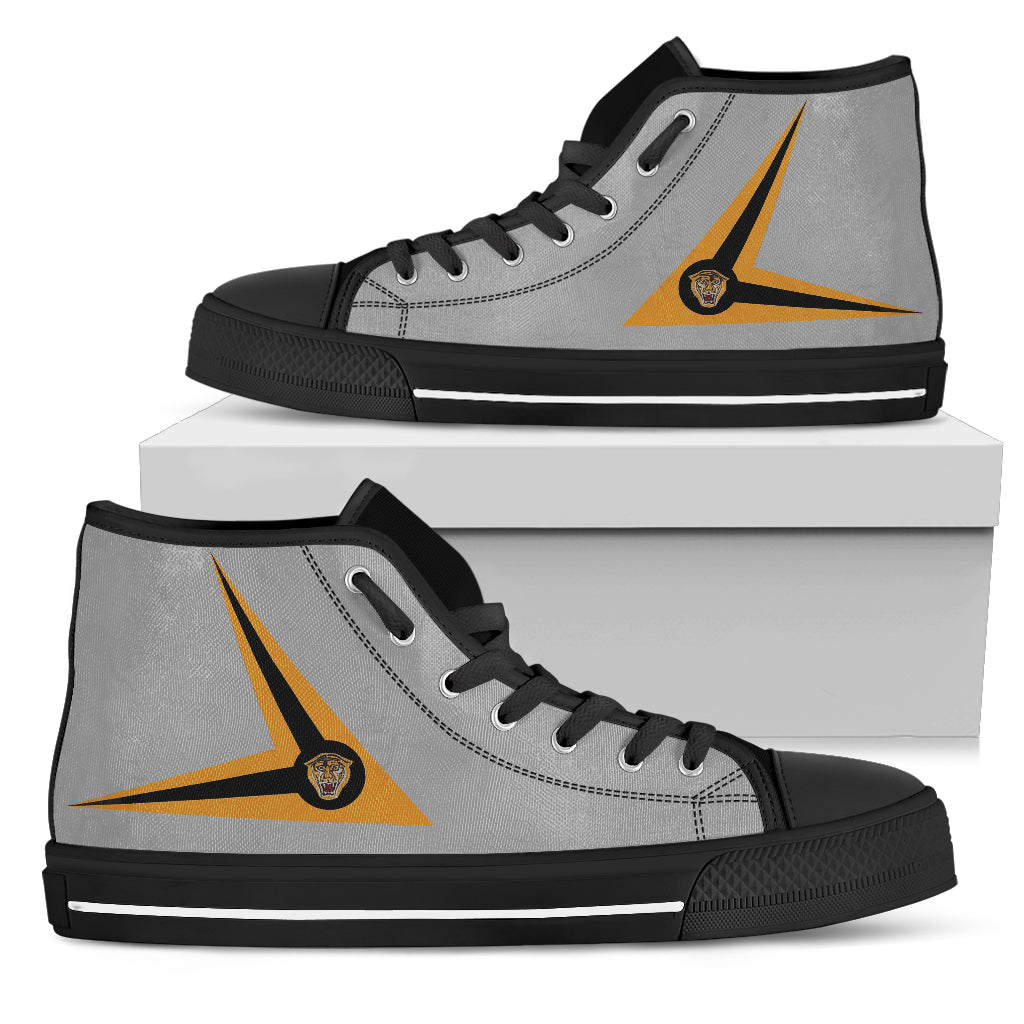 RAAF 2OCU F/A-18 Hornet Inspired Men's High Top Canvas Shoes - I Love a Hangar