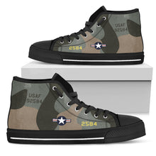 "Load image into Gallery viewer, B-52G ""Midnight Express"" Inspired Women's High Top Canvas Shoes - I Love a Hangar"