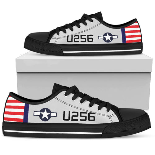 AT-6 W.A.S.P. Inspired Men's Low Top Canvas Shoes - I Love a Hangar