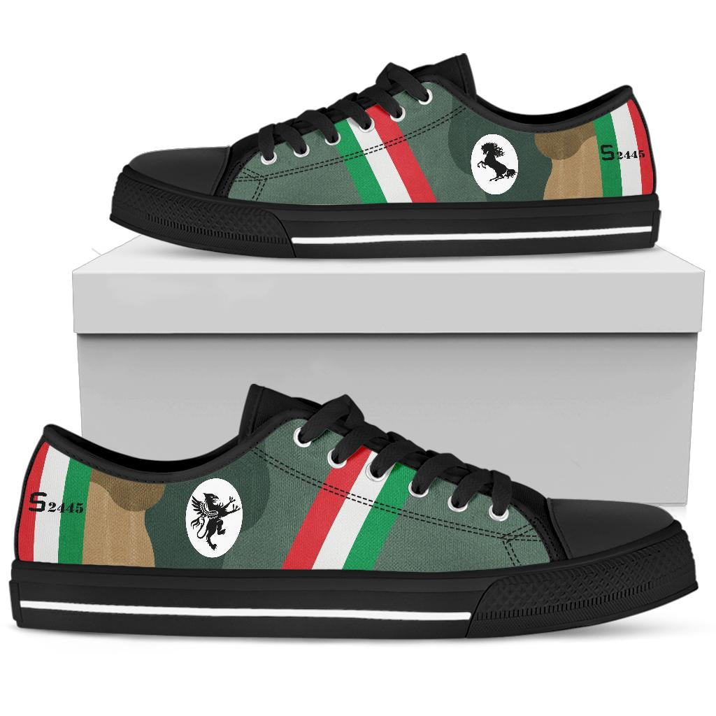 Francesco Baracca Spad XIII Inspired Men's Low Top Canvas Shoes - I Love a Hangar