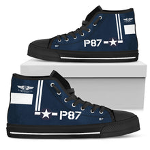 Load image into Gallery viewer, TBM Avenger Mens High Tops - I Love a Hangar