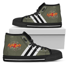 "Load image into Gallery viewer, B-26 ""Flak-Bait"" Inspired Women's High Top Canvas Shoes - I Love a Hangar"