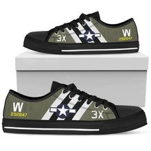 "Load image into Gallery viewer, C-47 ""That's All, Brother"" Inspired Women's Low Top Canvas Shoes - I Love a Hangar"