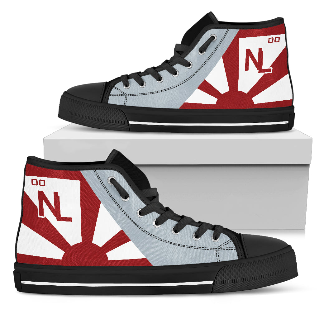 VF-111 Sundowners Inspired Men's High Top Canvas Shoes - I Love a Hangar