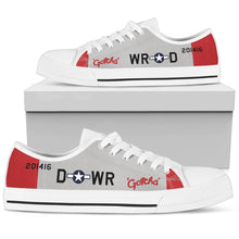 "Load image into Gallery viewer, P-51 ""Gotcha"" Inspired Men's Low Top Canvas Shoes - I Love a Hangar"