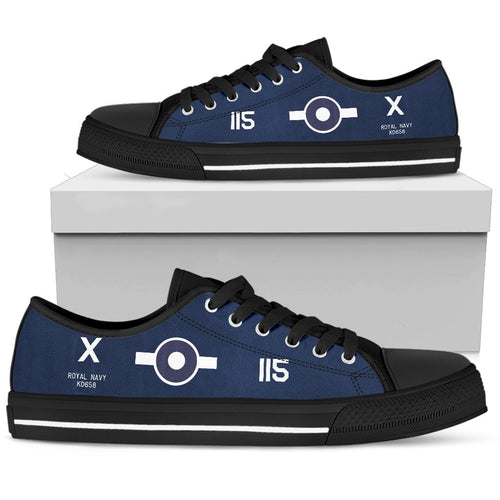 FG-1D Corsair of Lt. Robery Gray VC Inspired Men's Low Top Canvas Shoes - I Love a Hangar