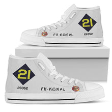 "Load image into Gallery viewer, B-29 ""Fu-Kemal"" Inspired Women's High Top Canvas Shoes - I Love a Hangar"