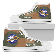 "Load image into Gallery viewer, AVG ""Flying Tigers"" Inspired Women's High Top Canvas Shoes - I Love a Hangar"