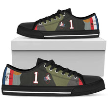 Load image into Gallery viewer, SPAD XIII of Capt. Eddie Rickenbacker Inspired Women's Low Top Canvas Shoes - I Love a Hangar