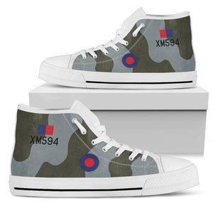 RAF Avro Vulcan XM594 Inspired Women's High Top Canvas Shoes - I Love a Hangar