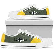 "Load image into Gallery viewer, Junkers Ju-87 ""Stuka"" Inspired Women's Low Top Canvas Shoes - I Love a Hangar"