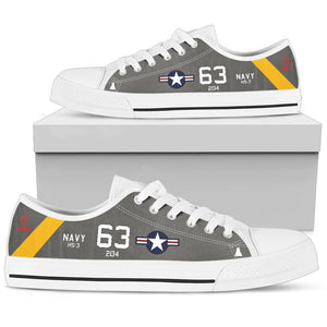 "SH-3A Sea King HS-3 ""Tridents"" Inspired Men's Low Top Canvas Shoes - I Love a Hangar"