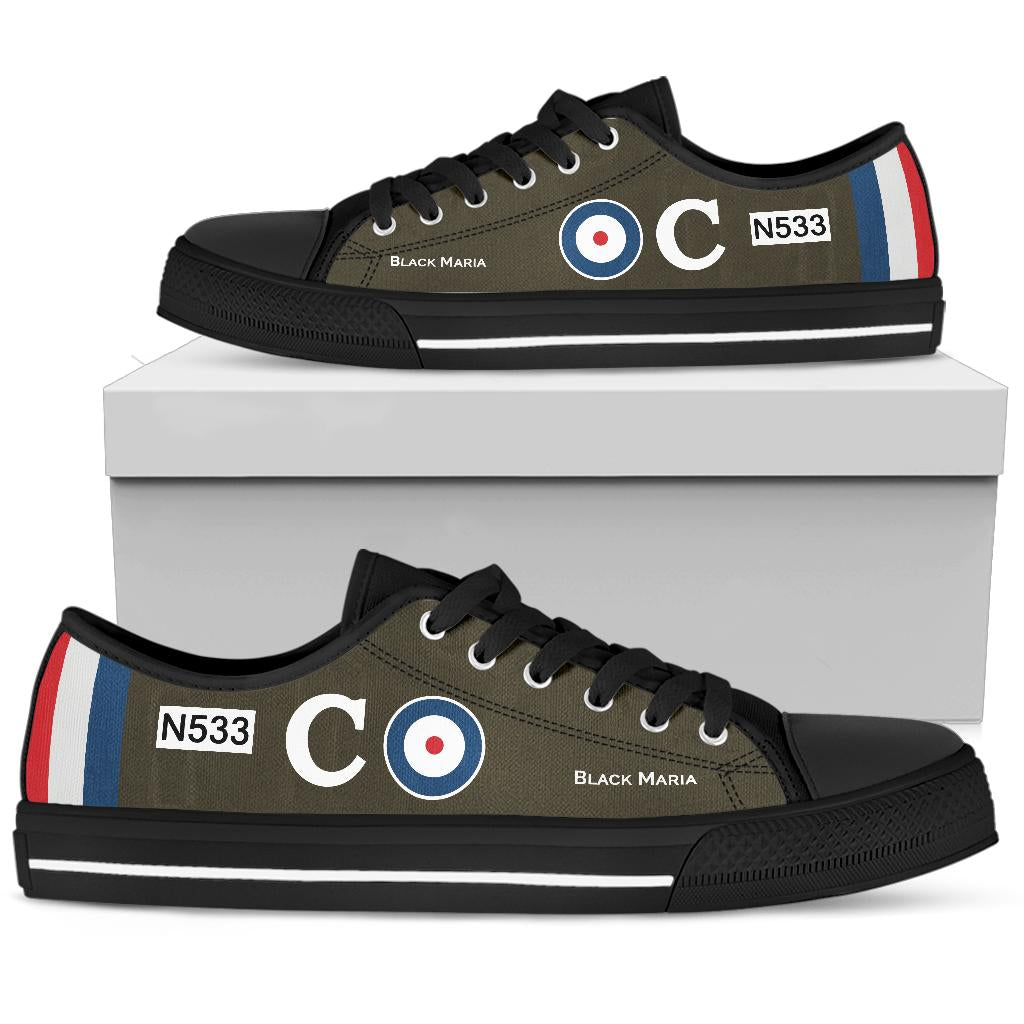 Sopwith Triplane of Raymond Collishaw Inspired Men's Low Top Canvas Shoes - I Love a Hangar