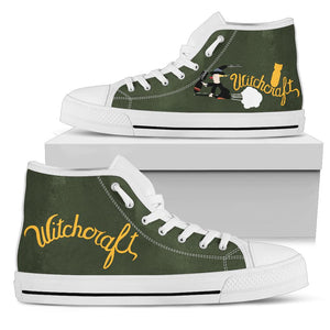 "B-24 ""Witchcraft"" Inspired Women's High Top Canvas Shoes - I Love a Hangar"