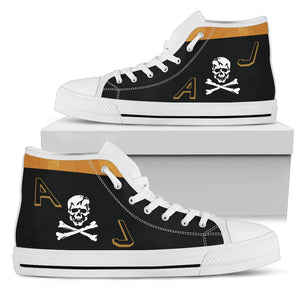"VF-84 ""Jolly Rogers"" Inspired Men's High Top Canvas Shoes - I Love a Hangar"