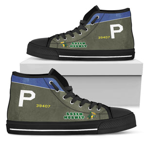 "A-20 ""Green Hornet"" Inspired Men's High Top Canvas Shoes - I Love a Hangar"