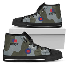 Load image into Gallery viewer, RAF Avro Vulcan Inspired Women's High Top Canvas Shoes - I Love a Hangar