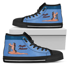"Load image into Gallery viewer, B-25 ""Pacific Princess"" Inspired Men's High Top Canvas Shoes - I Love a Hangar"