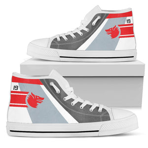 VF-1 Wolfpack Inspired Men's High Top Canvas Shoes - I Love a Hangar