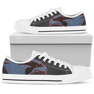 "VFA-137 ""Kestrels"" Inspired Women's Low Top Canvas Shoes - I Love a Hangar"