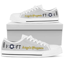 "Load image into Gallery viewer, P-51D ""Angels' Playmate"" of Lt. Bruce Carr Inspired Men's Low Top Canvas Shoes - I Love a Hangar"