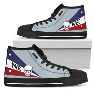 VF-2 Bounty Hunters F-14D Inspired Women's High Top Canvas Shoes - I Love a Hangar