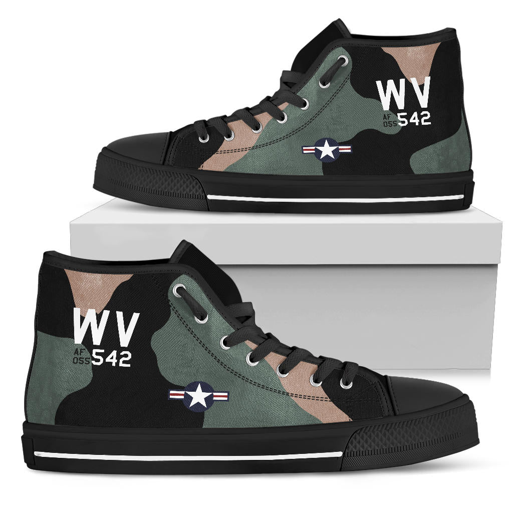 C-123K Provider of Joe Jackson Inspired Women's High Top Canvas Shoes - I Love a Hangar