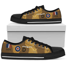 "Load image into Gallery viewer, B-26 ""Dominion Revenge"" Inspired Women's Low Top Canvas Shoes - I Love a Hangar"