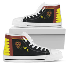 Load image into Gallery viewer, VMA-311 Tomcats Inspired Men's High Top Canvas Shoes - I Love a Hangar