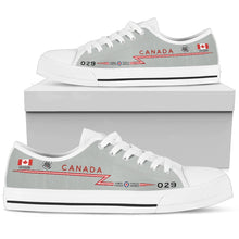 Load image into Gallery viewer, RCAF CF-101 Voodoo 416 SQN Inspired Men's Low Top Canvas Shoes - I Love a Hangar