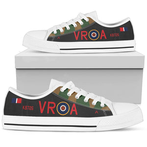 "Lancaster ""VR-A"" of Andrew Mynarski VC Inspired Men's Low Top Canvas Shoes - I Love a Hangar"
