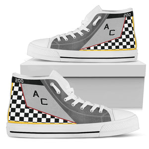 "VMFA-312 ""Checkerboards"" Inspired Men's High Top Canvas Shoes - I Love a Hangar"