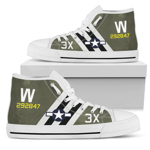 "C-47 ""That's All, Brother"" Inspired Women's High Top Canvas Shoes - I Love a Hangar"