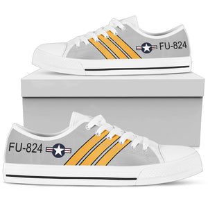 F-86 Sabre Inspired Men's Low Top Canvas Shoes - I Love a Hangar