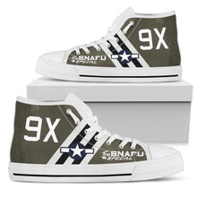 "Load image into Gallery viewer, C-47 ""The SNAFU Special"" Inspired Men's High Top Canvas Shoes - I Love a Hangar"