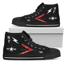 Load image into Gallery viewer, VMFP-3 RF-4B Inspired Women's High Top Canvas Shoes - I Love a Hangar