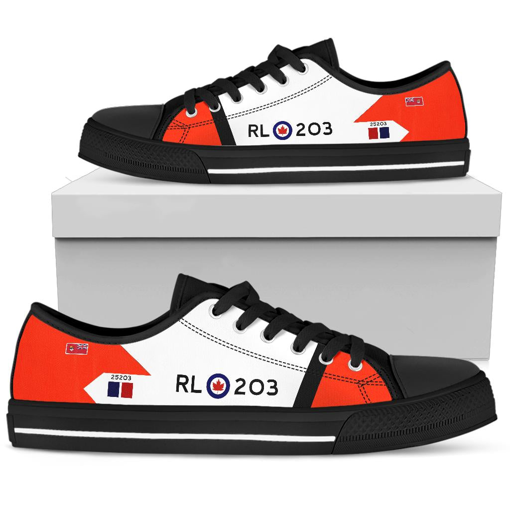 RCAF Avro Canada CF-105 Arrow #203 Inspired Women's Low Top Canvas Shoes - I Love a Hangar