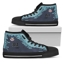 "Load image into Gallery viewer, 64th Aggressor Squadron F-16C ""Ghost""  Inspired Women's High Top Canvas Shoes - I Love a Hangar"