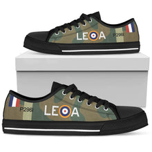 "Load image into Gallery viewer, Hawker Hurricane of ""Willie"" McKnight Inspired Women's Low Top Canvas Shoes - I Love a Hangar"