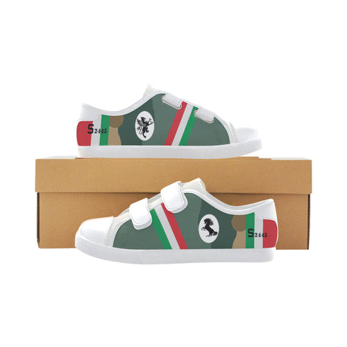 Francesco Baracca Spad XIII Inspired Kid's Low Top Canvas Shoe - I Love a Hangar