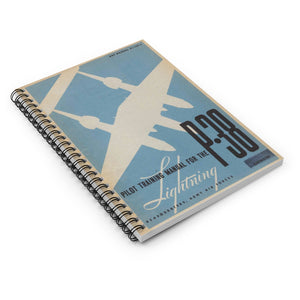 "P-38 ""Lightning"" Inspired Spiral Notebook - I Love a Hangar"
