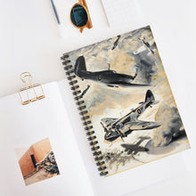 Load image into Gallery viewer, Fighter Escort Inspired Spiral Notebook - I Love a Hangar