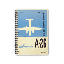 "Load image into Gallery viewer, A-26 ""Invader"" Inspired Spiral Notebook - I Love a Hangar"