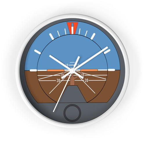 Attitude Indicator Wall clock - I Love a Hangar