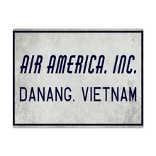 "Load image into Gallery viewer, ""Air America Inc."" Metal Sign 16in x 12in  (Distressed Appearance) - I Love a Hangar"