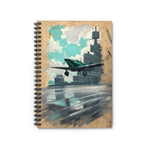 Carrier Operations Inspired Spiral Notebook - I Love a Hangar