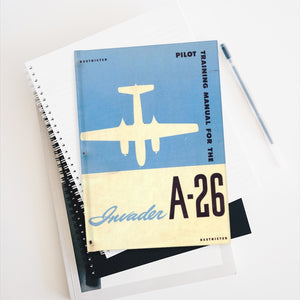 "A-26 ""Invader"" Inspired Hardcover Journal - I Love a Hangar"