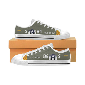 "P-51 ""Old Crow"" Inspired Kid's Low Top Canvas Shoes - I Love a Hangar"